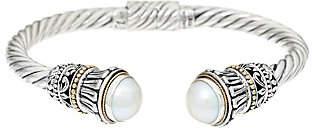 Sterling Silver/18K Gold Gemstone Cuff byArtisan Crafted