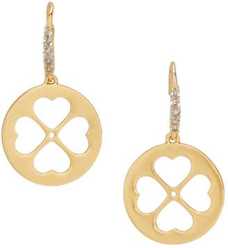 Kate Spade Symbols Spade Floral Crystal Drop Earrings