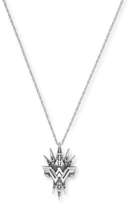 Alex and Ani Sterling Silver Wonder Woman Spike Pendant Necklace