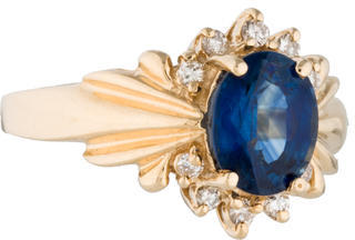 Le Vian Sapphire and Diamond Ring $2,795 thestylecure.com