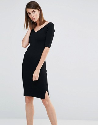 Whistles Knitted Fit and Flare Bodycon Midi Dress $226 thestylecure.com