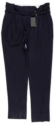 Burberry Flat Front High-Waist Pants