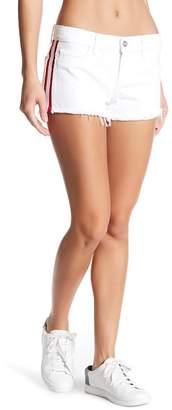 Siwy Denim Bailey Striped Fray Hem Shorts