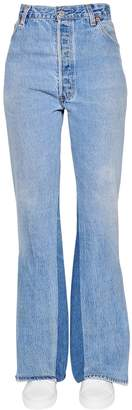 RE/DONE Re Done Slit Flared Cotton Denim Jeans