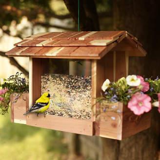 Woodlore Cedar Planter Hopper Bird Feeder