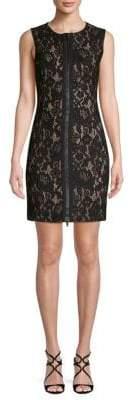 Love Moschino Lace Zipper Mini Dress