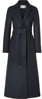 Harris Wharf London Belted Wool Coat - Charcoal