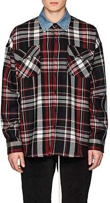 Fear Of God Men's Denim-Collar Plaid Wool Flannel Shirt