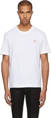 Versace White and Gold Medusa Head T-Shirt