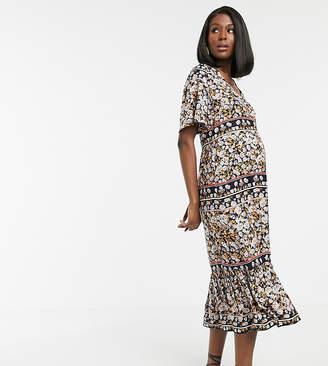 Mama Licious Mama.Licious Mama.licious maternity paisley print smock maxi dress maternity dress
