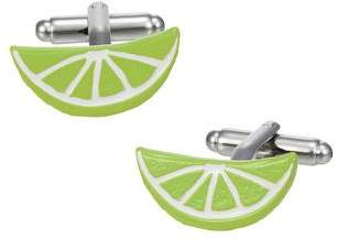 Jan Leslie Brilliantly Colored Citrus Slice Cufflinks