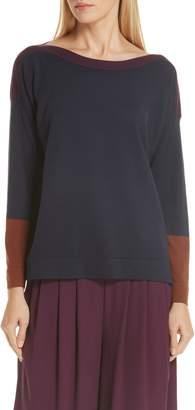 Eileen Fisher Colorblock Tencel(R) Lyocell Blend Sweater
