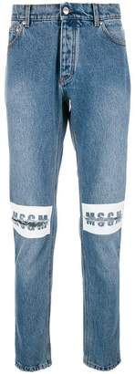 MSGM knee-ripped jeans