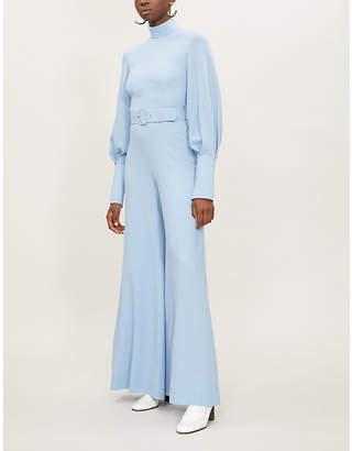 Emilia Wickstead Elvis high-neck wool-crepe jumpsuit