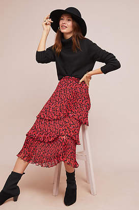 Traffic People Tiered Floral Skirt