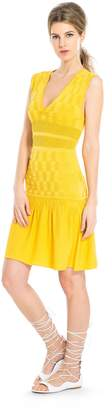 Max Studio checkered placed ottoman and release sweater dress