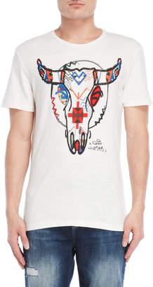 Desigual Bull Embroidered Slub Tee
