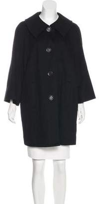 Sofia Cashmere Wool and Cashmere-Blend Coat