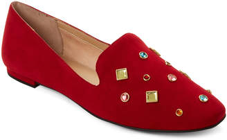 Katy Perry Red Turner Embellished Loafers