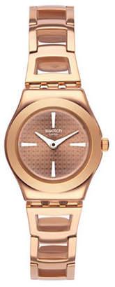 Swatch Analog Roseli Rose-Goldtone Bracelet Watch