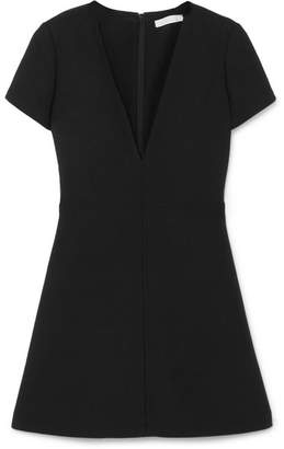 Chloé Wool-crepe Mini Dress - Black