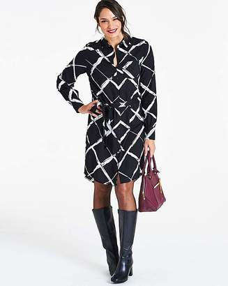 Capsule Black White Long Sleeve Shirt Dress 371e5060a