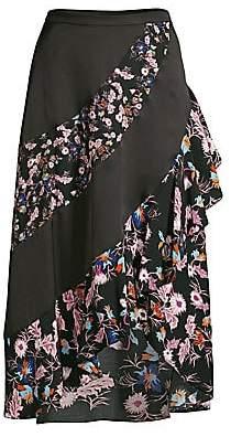 Sandro Women's Kylie Floral Midi Skirt