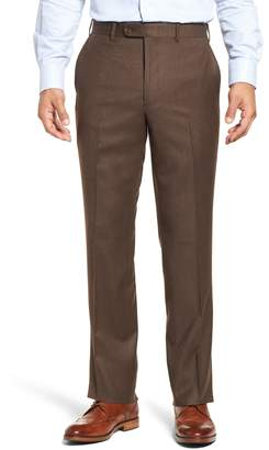 3fdf6f9fb69 ... John W. Nordstrom R) Torino Traditional Fit Flat Front Solid Wool    Cashmere Trousers