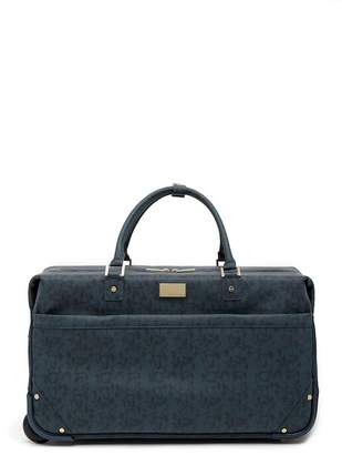"""Vince Camuto Deriella 22\"""" Snake Embossed Wheeled Duffle"""