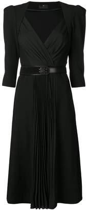 Elisabetta Franchi fitted flared dress