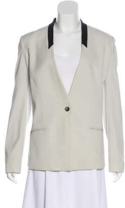 Helmut Lang V-Neck One-Button Blazer