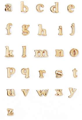 Catbird - Alphabet 14-karat Gold Earring