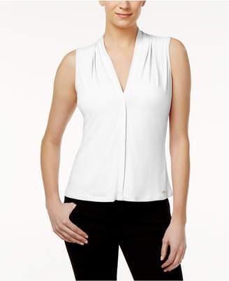 Calvin Klein Pleated Blouse, Regular & Petite