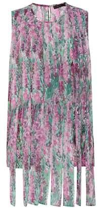 Max Mara Raro floral-printed silk top