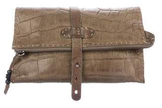 Henry Beguelin Embossed Leather Clutch