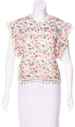 Tularosa Lace Printed Top