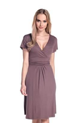 Glamour Empire Women's Knee Length Short Sleeve Jersey Skater Summer Dress 108 (