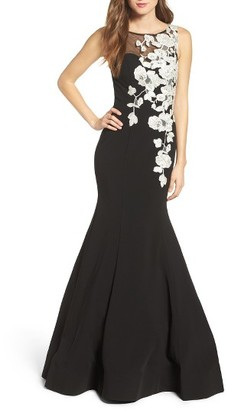 Women's Jovani Embellished Mermaid Gown $618 thestylecure.com