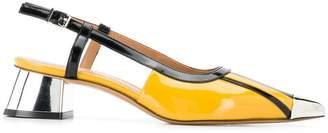 10a857755 Marni metallic heel slingback pumps
