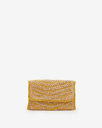 Express Straw Foldover Clutch