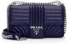 Prada Medium Diagramme Leather Shoulder Bag