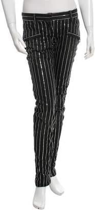 Balmain Sequin-Embellished Skinny Jeans