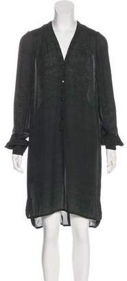 A.L.C. Printed Button-Up Midi Dress