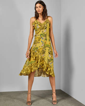 Ted Baker KARLENE Royal Palm frill dress