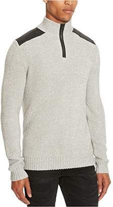 Kenneth Cole Reaction Men's Chunky Mrld 1/2 Zip