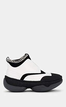 Alexander Wang WOMEN'S CHAIN EMBELLISHED LEATHER & MESH SNEAKERS