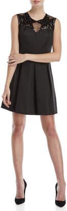 Sandro Black Pleated Sequin Dress