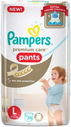 Pampers Premium Care New Premium Care Large Size Diapers Pants (58 Count)