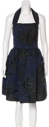 Oscar de la Renta A-Line Midi Dress