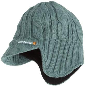 cb41e99f818dd Carhartt Women s Cable-Knit Ear Flap Hat With Visor
